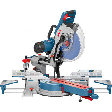 Skersinio pjovimo staklės Bosch GCM 12 SDE Professional + darbo stalas GTA 3800 2
