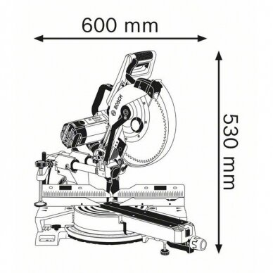Skersinio pjovimo staklės Bosch GCM 12 SDE Professional + darbo stalas GTA 3800 7