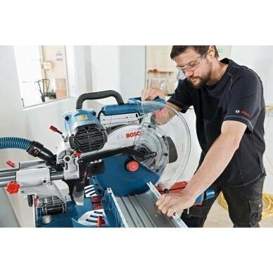Skersinio pjovimo staklės Bosch GCM 12 SDE Professional + darbo stalas GTA 3800 4