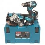 Akumuliatorinių įrankių komplektas Makita DLX2190TJ1; 18 V; 2x5,0 Ah