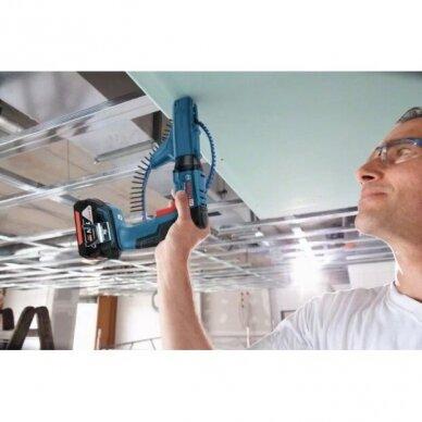 Akum. suktuvas sausosios statybos Bosch GSR 18 V-EC TE  + MA55, 2x5.0Ah, L-boxx 3