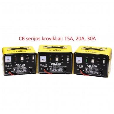 Akumuliatoriaus įkroviklis 30A, 12/24V STROM (CB-30H) 3