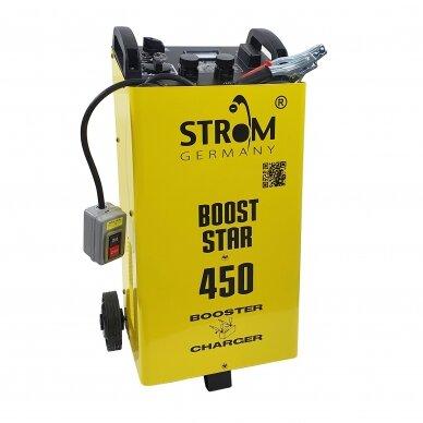 Akumuliatoriaus įkroviklis su paleidimo funkcija Strom 12/24V, 40-500Ah 2