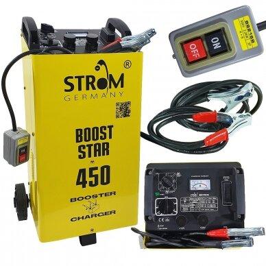 Akumuliatoriaus įkroviklis su paleidimo funkcija Strom 12/24V, 40-500Ah