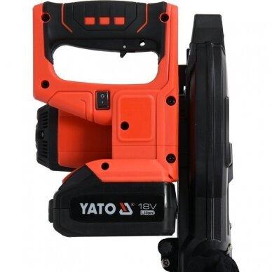 Akumuliatorinės medžio pjovimo staklės Yato YT-82816, 185 mm, 18V, 1x4.0Ah 3