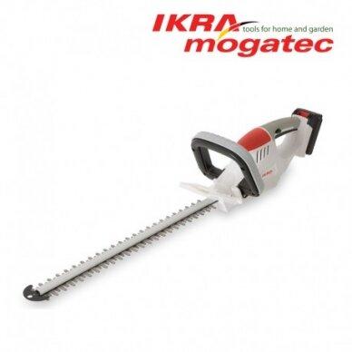 Akumuliatorinės žolės ir gyvatvorių žirklės 20V 1,5Ah Ikra Mogatec IAHS 20-5115
