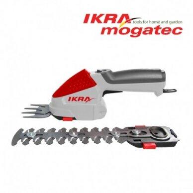 Akumuliatorinės žolės ir gyvatvorių žirklės 7,2V Ikra Mogatec IGBS 1054 LI