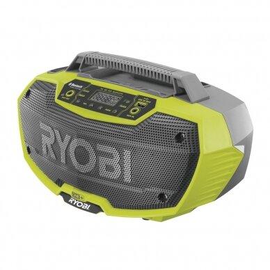 Akumuliatorinis radijo grotuvas su Bluetooth® Ryobi R18RH-0, 18V (be akum. ir kroviklio)