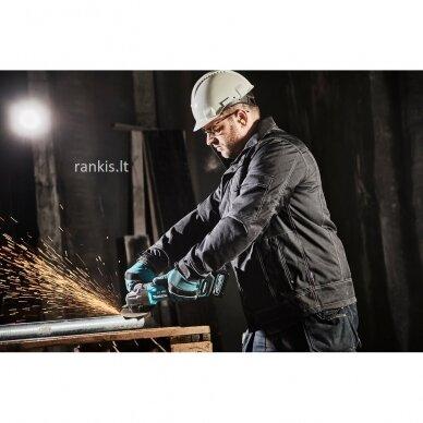 Akumuliatorinis kampinis šlifuoklis XGT ® 40Vmax Makita GA005GM201, 2x4,0Ah 12