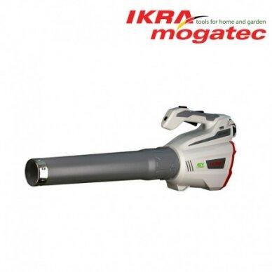 Akumuliatorinis lapų pūstuvas 40V 2.5 Ah Ikra Mogatec IAB 40-25 Pilnas komplektas