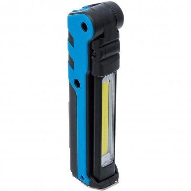 AKUMULIATORINIS PROŽEKTORIUS BGS-Technic, USB, LED, 3+5W 2