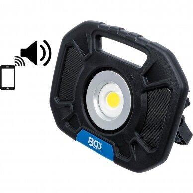 Akumuliatorinis prožektorius su garsiakalbiais BGS-technic, 40W, Bluetooth