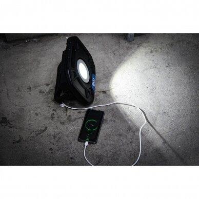 Akumuliatorinis prožektorius su garsiakalbiais BGS-technic, 40W, Bluetooth 8