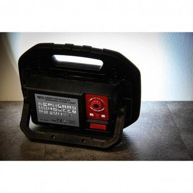 Akumuliatorinis prožektorius su garsiakalbiais BGS-technic, 40W, Bluetooth 9
