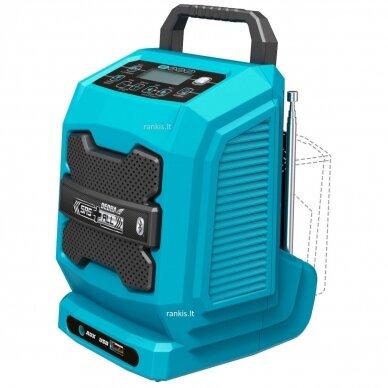 Akumuliatorinis radijas DEDRA DED7005, Bluetooth, USB, 18V