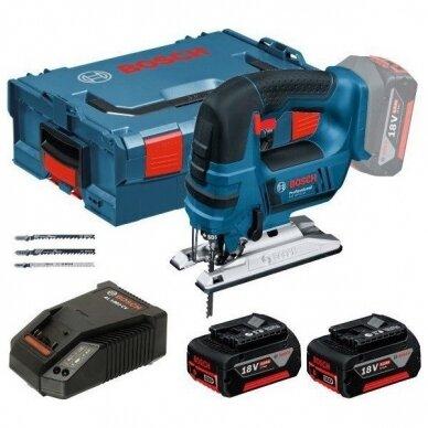 Akumuliatorinis siaurapjūklis Bosch GST 18 V-Li B Professional, 2x4.0Ah