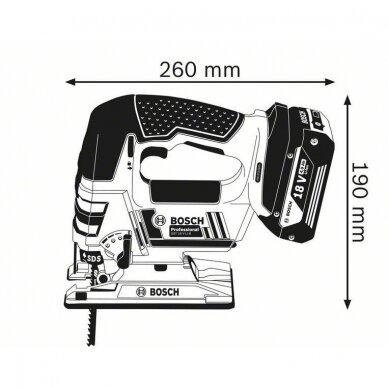 Akumuliatorinis siaurapjūklis Bosch GST 18 V-Li B Professional, 2x4.0Ah 6