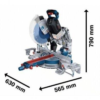 Akumuliatorinis skersavimo ir suleidimo pjūklas Bosch BITURBO GCM18V-305 GDC, solo 2