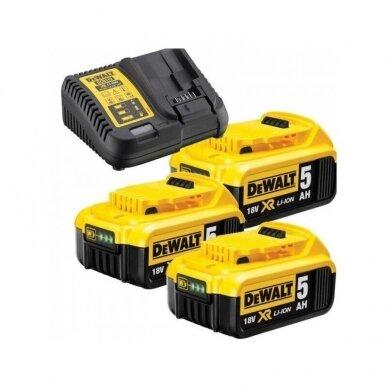 Akumuliatorinis smūginis suktuvas DeWalt DCD796NT + lagaminas + DCB115P3-QW 3