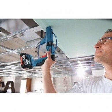 Akumuliatorinis suktuvas sausosios statybos Bosch GSR 18 V-EC TE Professional, 2x4.0Ah + AF55 4
