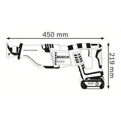 Akumuliatorinis universalus pjūklas Bosch GSA 18 V-LI solo Professional 3