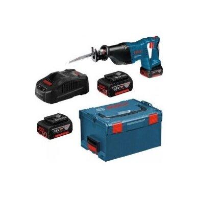 Akumuliatorinis universalus pjūklas Bosch GSA 18 V-LI Professional, 2x4.0Ah, L-Boxx 2