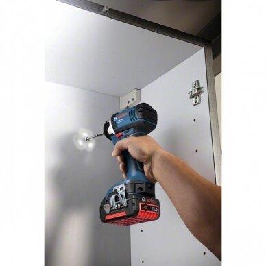 Akumuliatorinių įrankių rinkinys Bosch GDR 18V-Li (GSR 18-2-Li PLUS+ GDR 18 V-Li); 18 V; 3x4,0 Ah 7