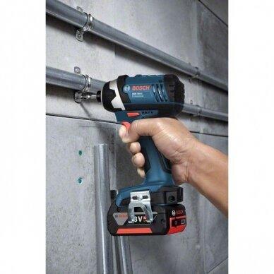 Akumuliatorinių įrankių rinkinys Bosch GDR 18V-Li (GSR 18-2-Li PLUS+ GDR 18 V-Li); 18 V; 3x4,0 Ah 8