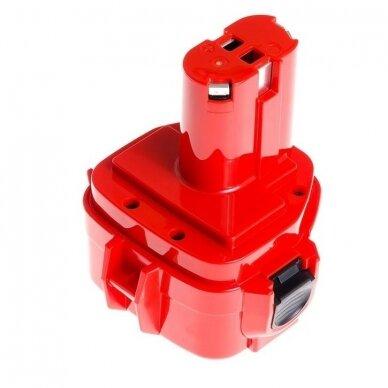 Akumuliatorius baterija analogiška Makita 12V, 2Ah (tinka Ni-MH, NI-CD) PT02