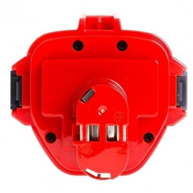 Akumuliatorius baterija analogiška Makita 12V, 2Ah (tinka Ni-MH, NI-CD) PT02 3