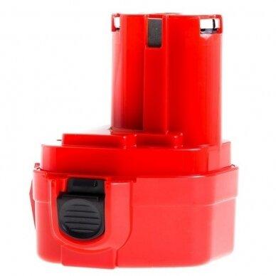 Akumuliatorius baterija analogiška Makita 12V, 2Ah (tinka Ni-MH, NI-CD) PT02 4