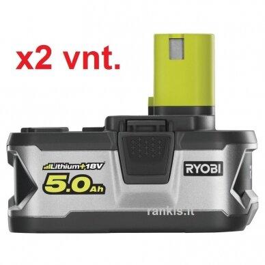 Akumuliatorius Ryobi RB18LL50, 18V, 2x 5,0Ah, LITHIUM+, ONE+ 2