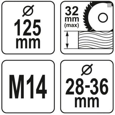 APSAUGINIS GAUBTAS Yato M14 / 125 mm (YT-82986) 2