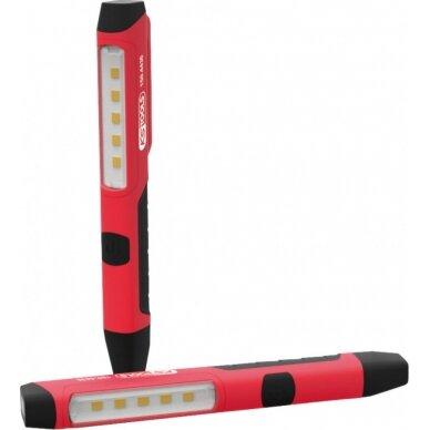 Apžiūros lempa 5+1 LED 100 Lumen, KS tools 2