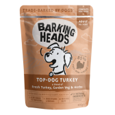 BARKING HEADS Top Dog Turkey kons. šun. su kalakutiena 300g