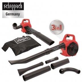 Benzininis lapų pūstuvas - siurblys - smulkintuvas (3-in-1) Scheppach LBH2600P, 1Ag