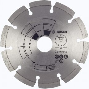 BOSCH Deimantinis pjovimo diskas 125mm CONCRETE