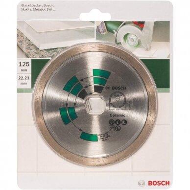 BOSCH Deimantinis pjovimo diskas 125mm Tiles 2