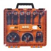 Daugiafunkcinio įrankio priedų rinkinys AEG SET MT 9+2 Set, 11vnt