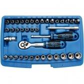 """Daugiafunkcinių galvučių rinkinys """"Gear Lock"""" BGS-TECHNIC 6.3 mm (1/4""""), 39 vnt."""