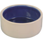 Dubenėlis keraminis kreminis/mėlynas 0.35l/12cm