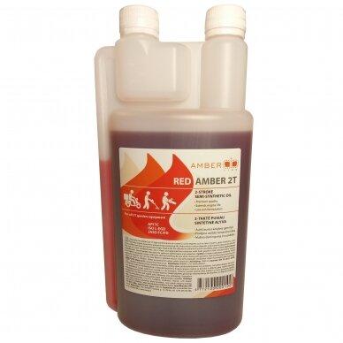 Dvitaktė alyva Amber-line, raudona, 2T, 1L