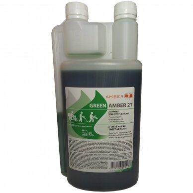 Dvitaktė alyva Amber-line, žalia, 2T, 1L