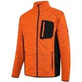 Džemperis didelio matomumo Florence, oranžinė/juoda 3XL, Pesso