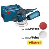 Ekscentrinis šlifuoklis Bosch GEX 125-150 AVE + 52 priedai