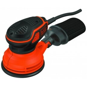 Ekscentrinis šlifuoklis KA199 240 W 125 mm, Black+Decker