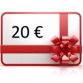 Elektroninis dovanų kuponas apsipirkti rankis.lt, vertė 20 €