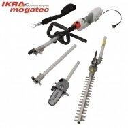 Elektrinė aukštapjovė gyvatvorėms ir genėjimo pjūklas 1000W Ikra Mogatec IECH 1000, 2in1