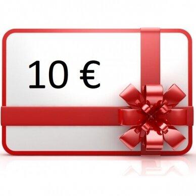 Elektroninis dovanų kuponas apsipirkti rankis.lt, vertė 10 €