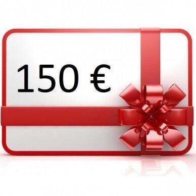 Elektroninis dovanų kuponas apsipirkti rankis.lt, vertė 150 €
